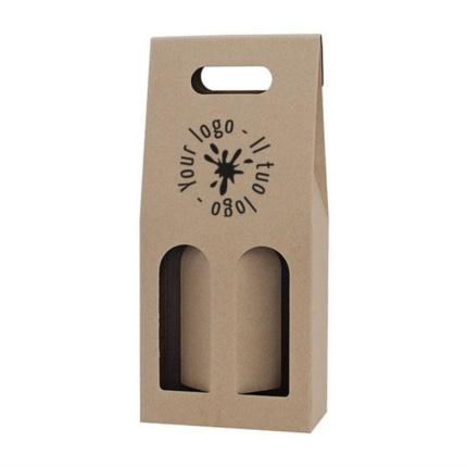Confezione 2 bottiglie personalizzabile avana