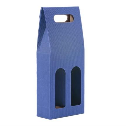 Confezione a sacchetto blu 2 bottiglie