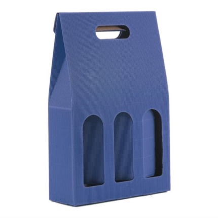 Confezione a sacchetto blu 3 bottiglie