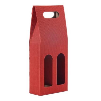 Confezione a sacchetto rossa 2 bottiglie