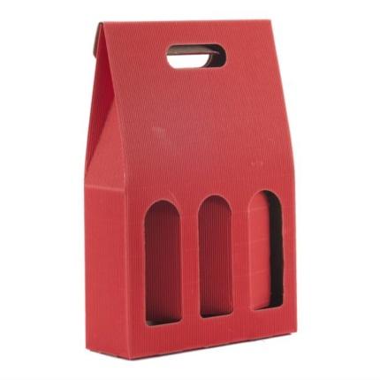 Confezione a sacchetto rossa 3 bottiglie
