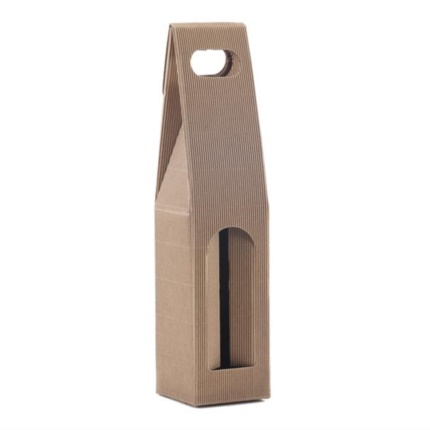 Confezione a sacchetto onda scoperta avana 1 bottiglia