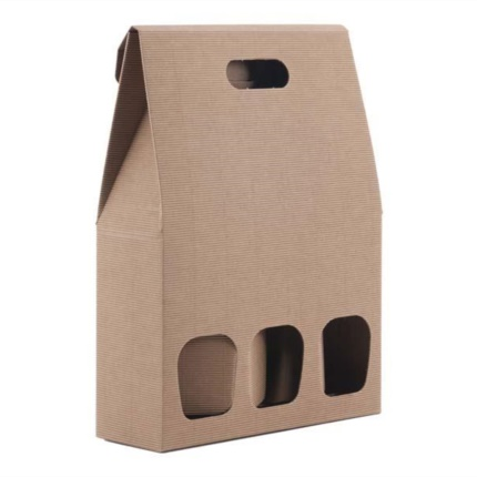 Confezione a sacchetto avana 3 bottiglie