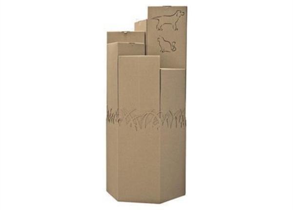 Espositore da terra esagonale in onda scoperta| Packaging - Espositori - Bag in Box