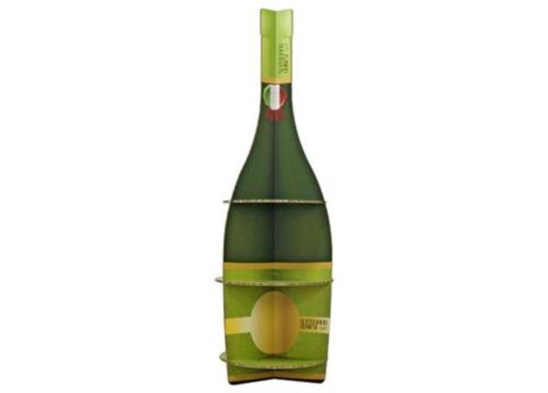 Espositore sagomato a forma di bottiglia| Packaging - Espositori - Bag in Box